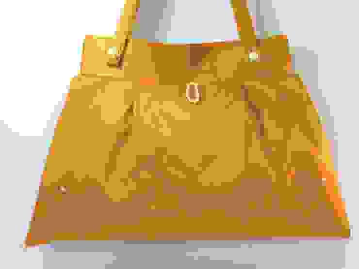 Aufbewahrungstasche - Stofftasche in gelb von Brigitte Wüsthoff Klassisch Textil Bernstein/Gold