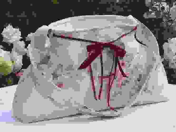 Aufbewahrungstasche - Stofftasche mit Rosenstoff von Brigitte Wüsthoff Landhaus Baumwolle Rot