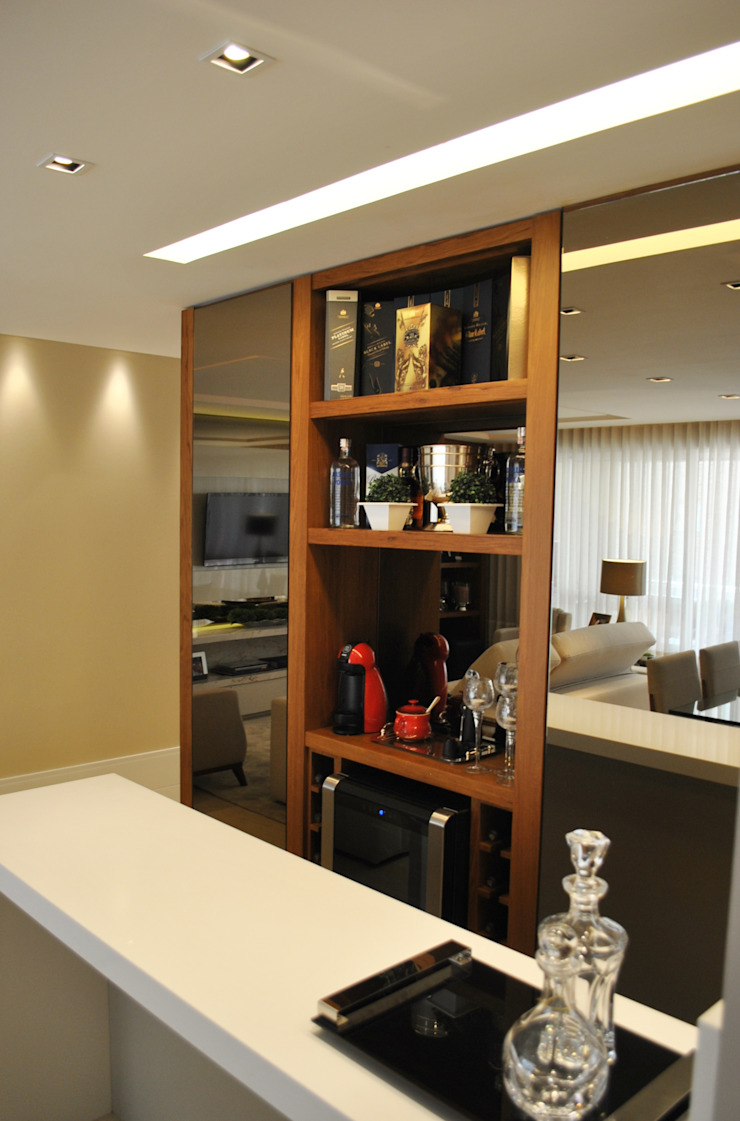 Apartamento Vila Izabel Adegas modernas por Viviane Cavichiolo Arquitetura Moderno