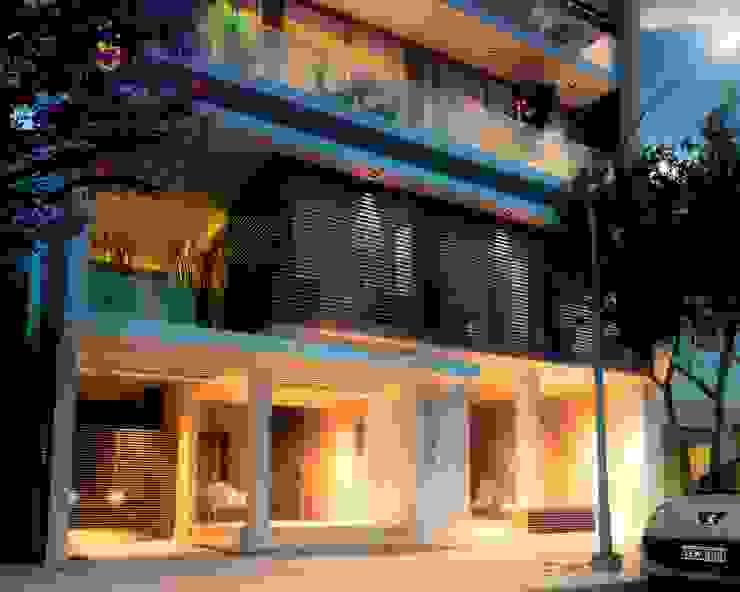 Edificio Mística VII Balcones y terrazas modernos: Ideas, imágenes y decoración de AMADO arquitectos Moderno