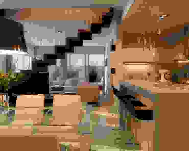 Edificio Mística VII Pasillos, vestíbulos y escaleras modernos de AMADO arquitectos Moderno