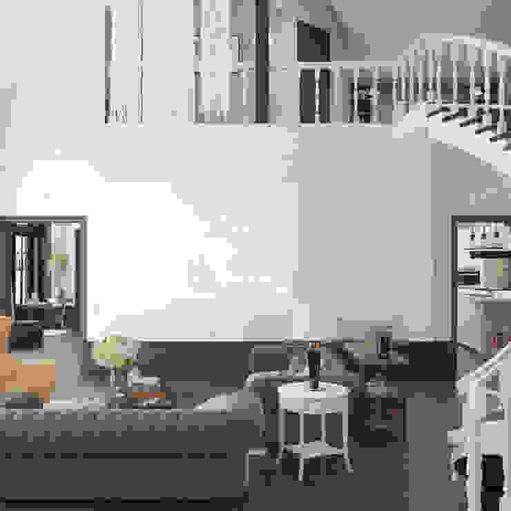 Волки Гостиные в эклектичном стиле от Brama Architects Эклектичный Изделия из древесины Прозрачный