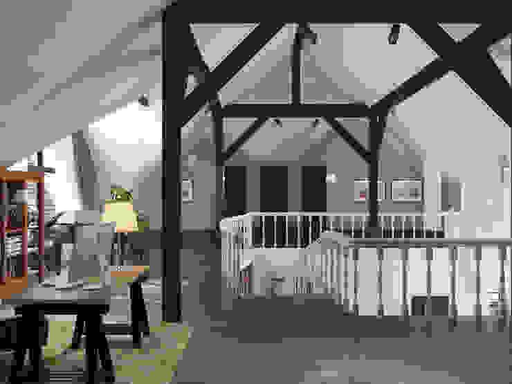 Волки Коридор, прихожая и лестница в стиле кантри от Brama Architects Кантри Изделия из древесины Прозрачный