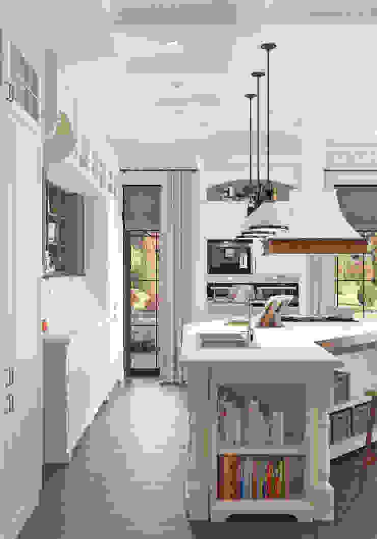 Волки Кухня в стиле кантри от Brama Architects Кантри Изделия из древесины Прозрачный