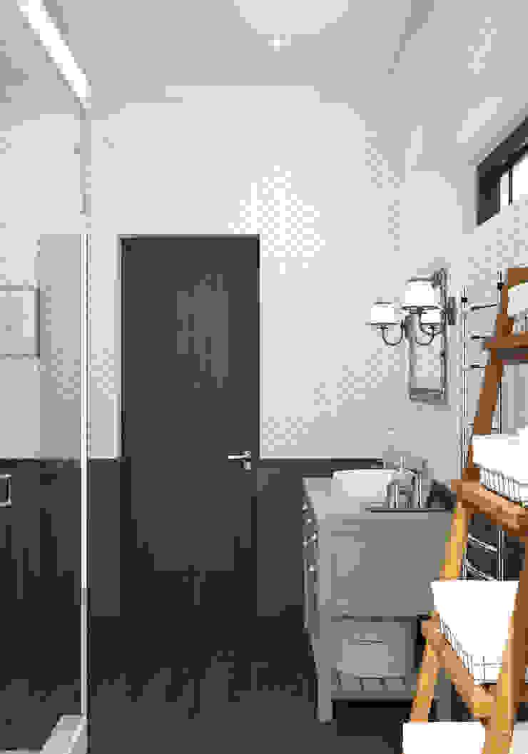 Волки Ванная комната в стиле кантри от Brama Architects Кантри Изделия из древесины Прозрачный