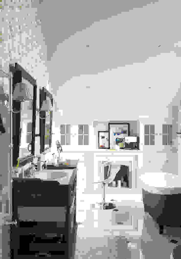 Волки Ванная комната в эклектичном стиле от Brama Architects Эклектичный Плитка