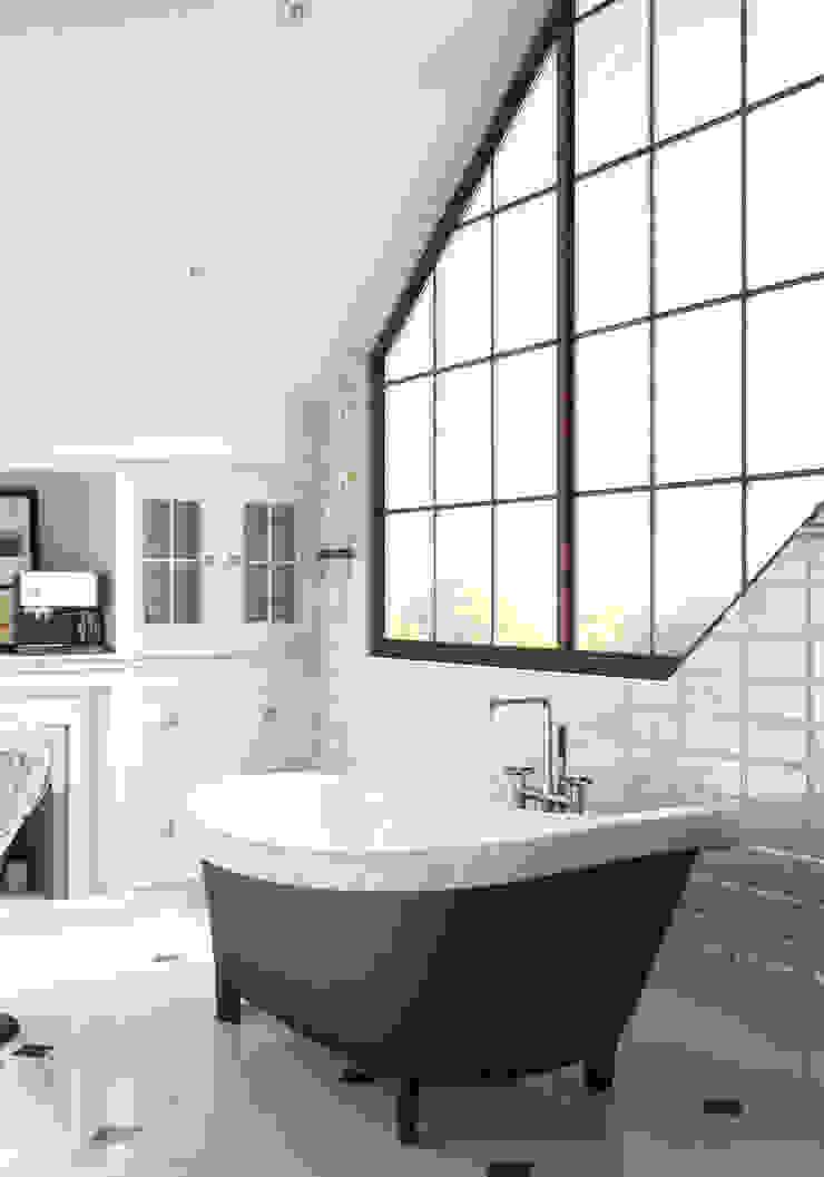 Волки Ванная комната в эклектичном стиле от Brama Architects Эклектичный Изделия из древесины Прозрачный