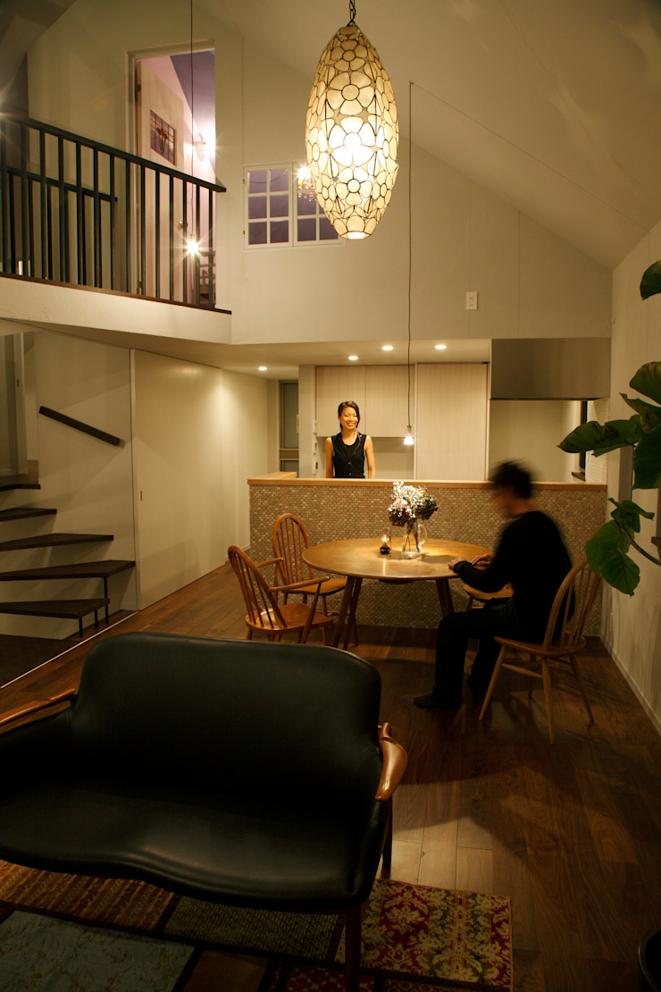 House in Kunimidai Mimasis Design/ミメイシス デザイン モダンデザインの ダイニング