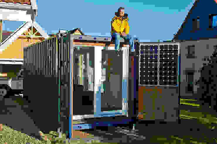 POCKETCONTAINER - Das Mikrohaus Minimalistische Häuser von Stefan Brandt - solare Luftheizsysteme und Warmuftkollektoren Minimalistisch