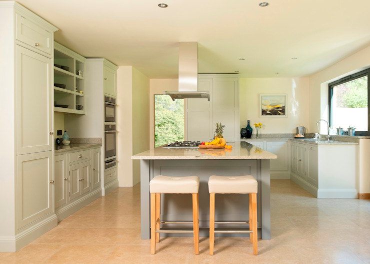 two shades of grey Chalkhouse Interiors Classic style kitchen