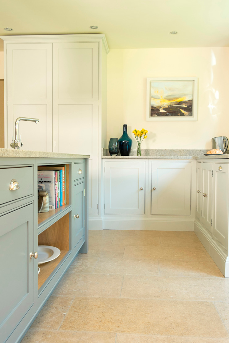 two shades of grey Chalkhouse Interiors Classic style kitchen Wood Grey