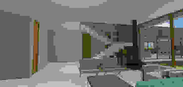 casa hc Salas de estar modernas por grupo pr | arquitetura e design Moderno