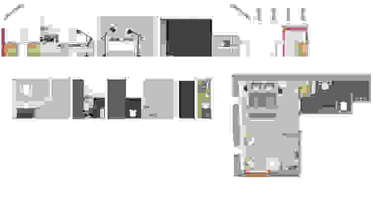 Grundriss des Ferienzimmers »Stein« auf dem Lothshof von Büro Köthe Landhaus