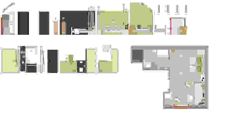 Grundriss des Ferienzimmers »Wald« auf dem Lothshof von Büro Köthe Landhaus
