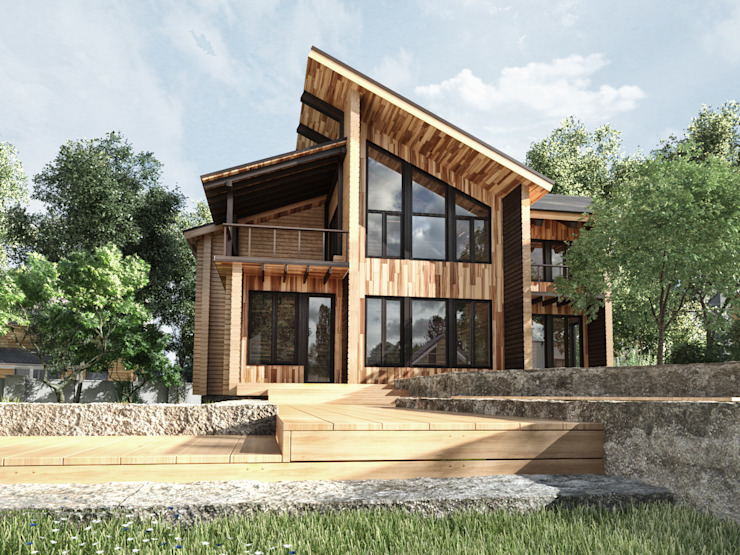 Modern houses by Студия архитектуры и дизайна ДИАЛ Modern