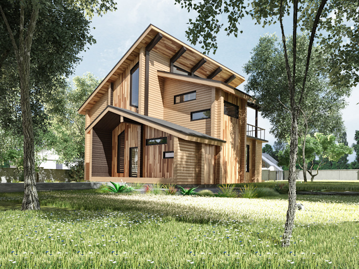 บ้านและที่อยู่อาศัย โดย Студия архитектуры и дизайна ДИАЛ,