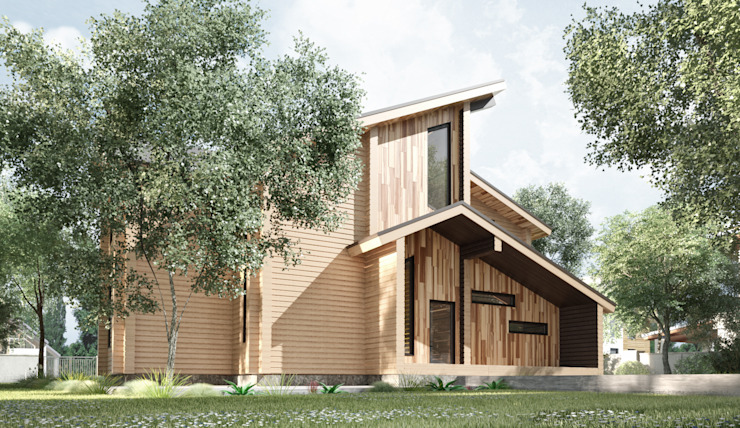Коттедж в Эко стиле: Дома в . Автор – Студия архитектуры и дизайна ДИАЛ,