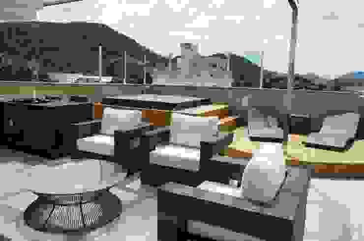 Cobertura Piratininga 2015 Varandas, alpendres e terraços modernos por Catharina Quadros Arquitetura e Interiores Moderno