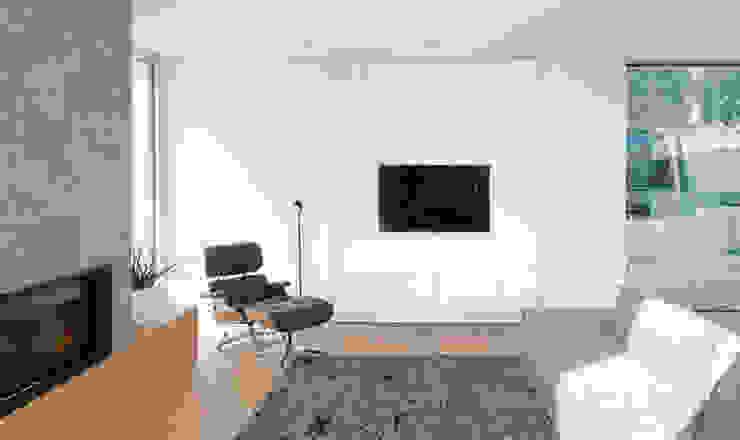 Wohnzimmerwand Moderner Wintergarten von Diemer Architekten Part. mbB Modern