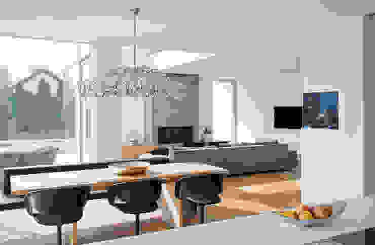 Столовая комната в стиле модерн от Diemer Architekten Part. mbB Модерн