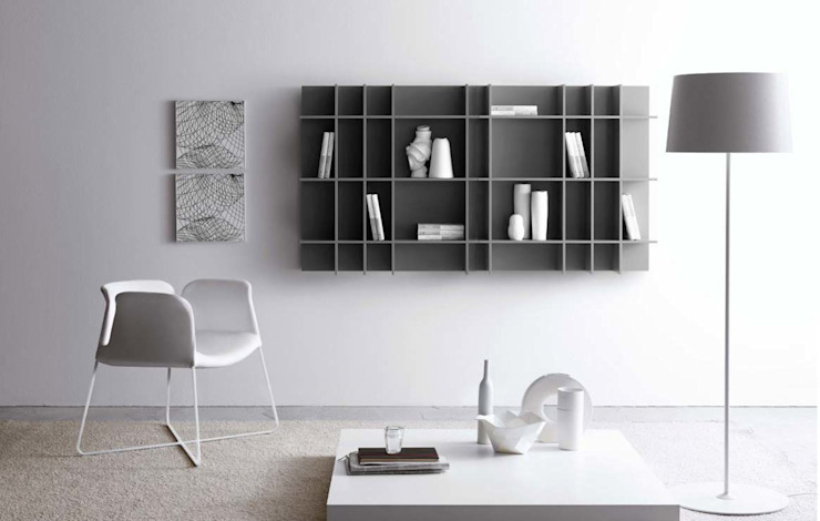 Livarea Living roomShelves Grey