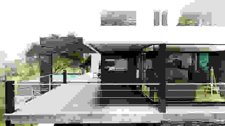 GALERÍA-ESPACIO INTERMEDIO Balcones y terrazas modernos: Ideas, imágenes y decoración de ARQUETERRA Moderno