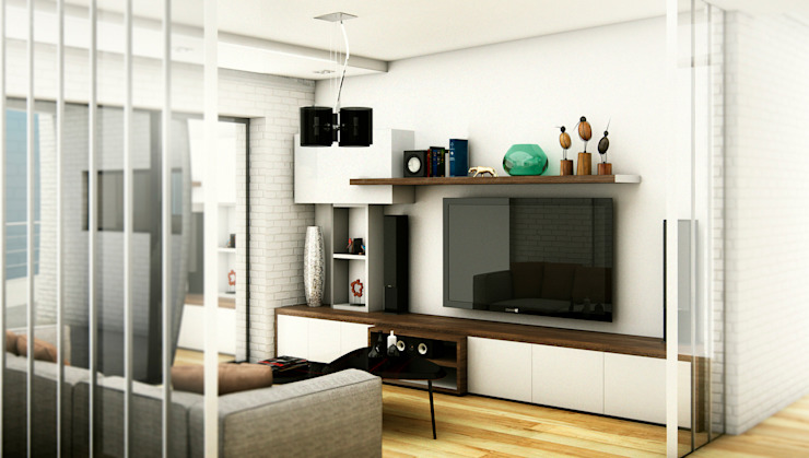 Media room by ARQUETERRA, Modern