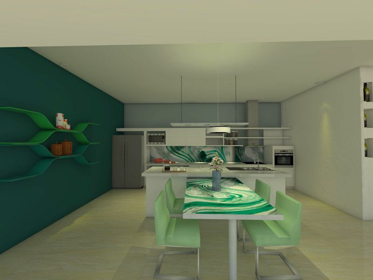 Modern kitchen by ER Design. @eugeriveraERdesign Modern