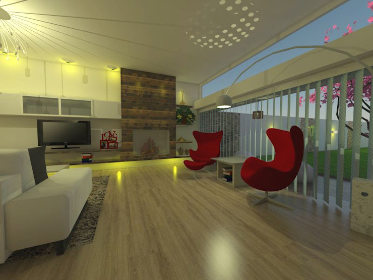 área de espacimiento: Livings de estilo  por ER Design.    @eugeriveraERdesign,Moderno