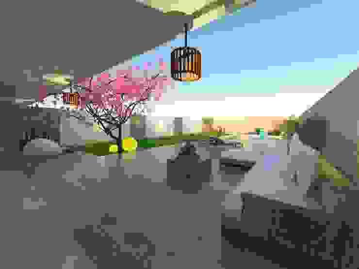 Jardines de estilo moderno de ER Design. @eugeriveraERdesign Moderno