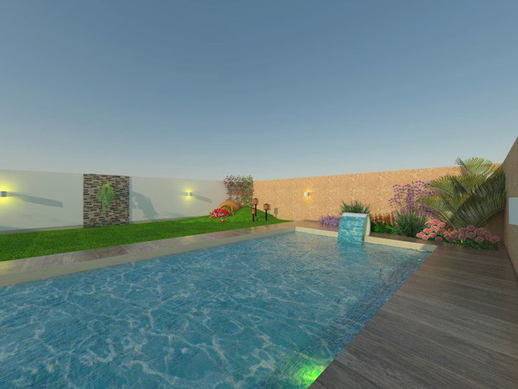 Modern pool by ER Design. @eugeriveraERdesign Modern