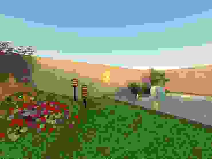 """PROYECTO """"CASA MODELO"""" -aún sin ejecutar Jardines modernos: Ideas, imágenes y decoración de ER Design. @eugeriveraERdesign Moderno"""