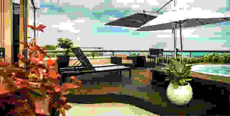 Varanda Varandas, alpendres e terraços modernos por Falchetti Concept Moderno