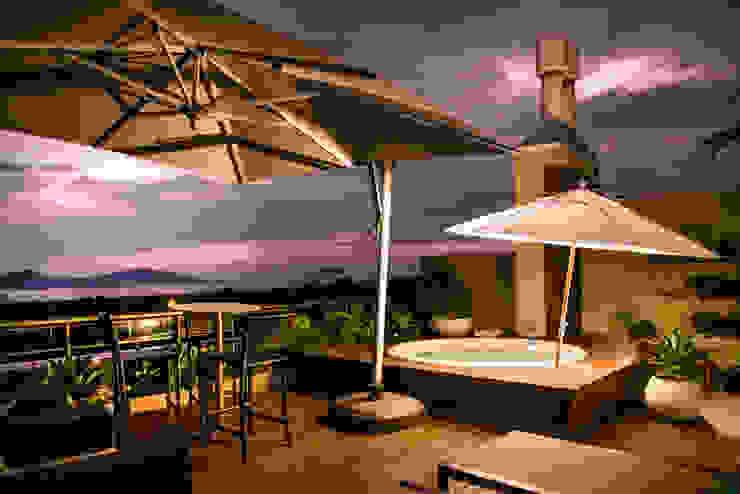 Por do Sol Varandas, alpendres e terraços modernos por homify Moderno
