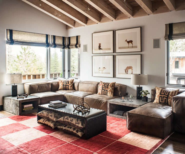 Truckee Residence Eclectic style living room by Antonio Martins Interior Design Inc Eclectic