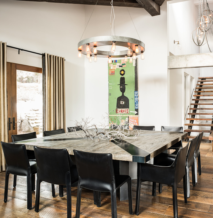 Truckee Residence Ruang Makan Gaya Eklektik Oleh Antonio Martins Interior Design Inc Eklektik