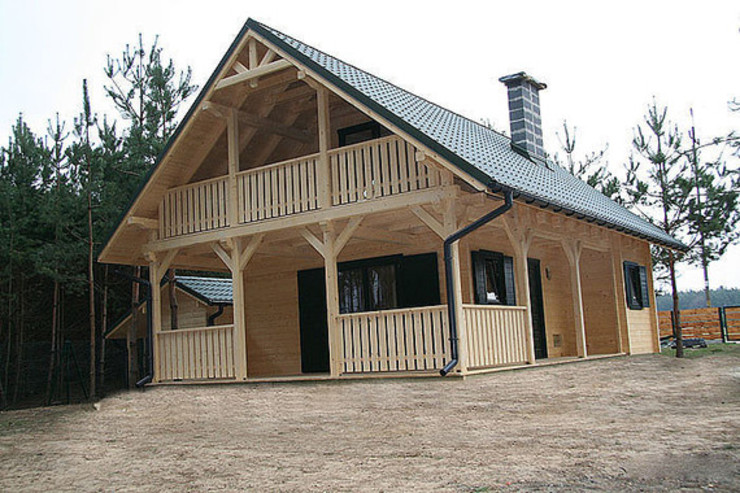 chalet modello lori 20 Case in stile scandinavo di CasediLegnoSr Scandinavo Legno Effetto legno