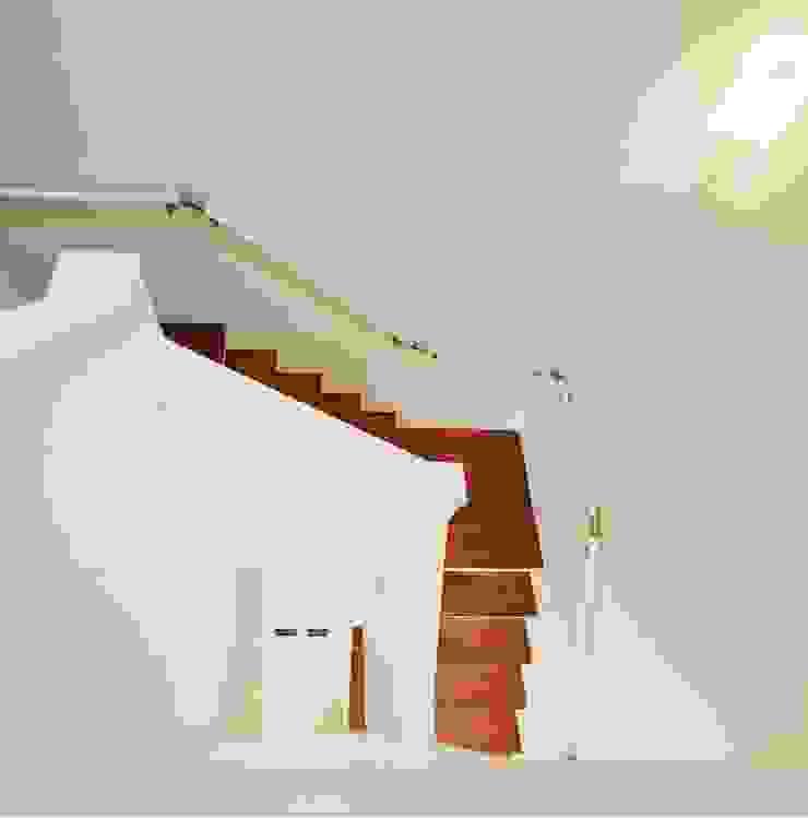 光と風の通る家 モダンスタイルの 玄関&廊下&階段 の 福島工務店株式会社 モダン