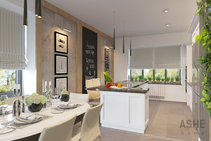 Лофт в Акбердино Кухня в стиле лофт от Студия авторского дизайна ASHE Home Лофт