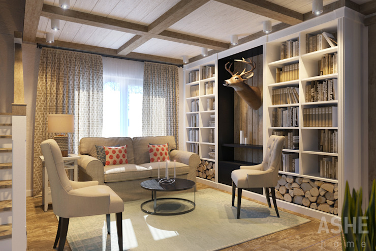 Salon rustique par Студия авторского дизайна ASHE Home Rustique