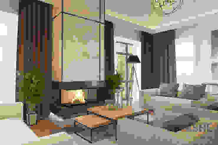 Лофт в Акбердино Гостиная в стиле лофт от Студия авторского дизайна ASHE Home Лофт