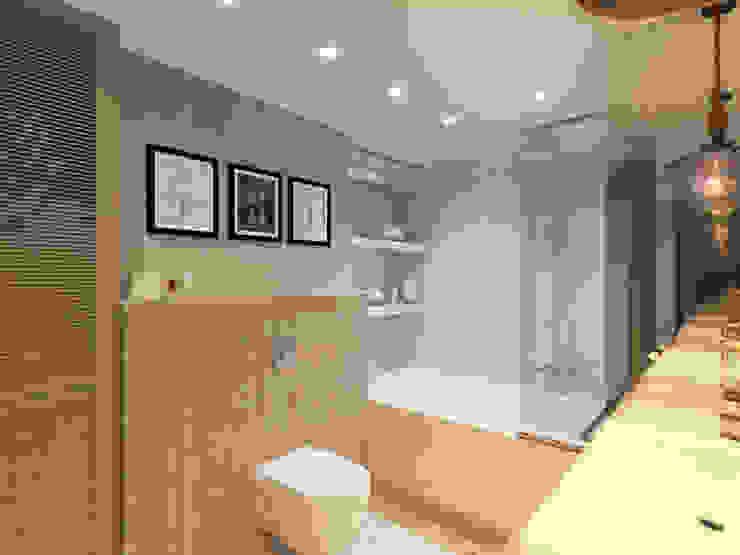 Загородный дом с стиле шале Ванная комната в рустикальном стиле от Студия авторского дизайна ASHE Home Рустикальный