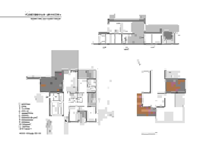 Дом Эрмитаж Дома в стиле минимализм от ALEXANIN ARCHITECTURE Минимализм