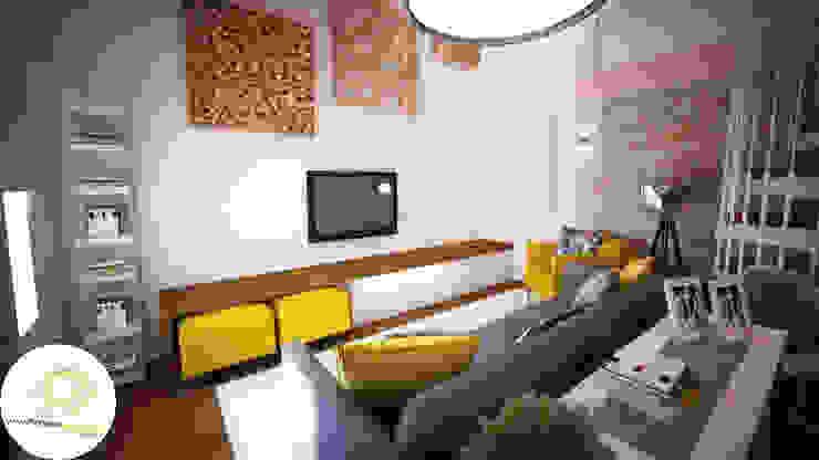 Modern living room by Andreia Louraço - Designer de Interiores (Contacto: atelier.andreialouraco@gmail.com) Modern Wood Wood effect