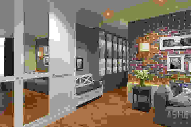 Квартира в ЖК Уфимский Кремль Гостиные в эклектичном стиле от Студия авторского дизайна ASHE Home Эклектичный