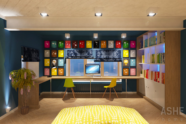 Лофт в Акбердино Медиа комната в стиле лофт от Студия авторского дизайна ASHE Home Лофт