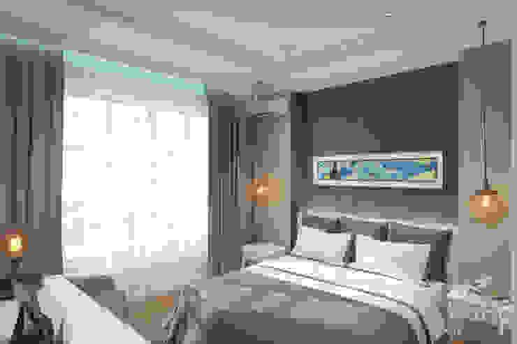Квартира в ЖК Уфимский Кремль Спальня в эклектичном стиле от Студия авторского дизайна ASHE Home Эклектичный