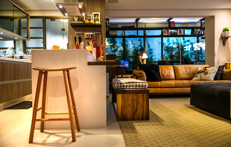 Sala Salas de estar ecléticas por Falchetti Concept Eclético
