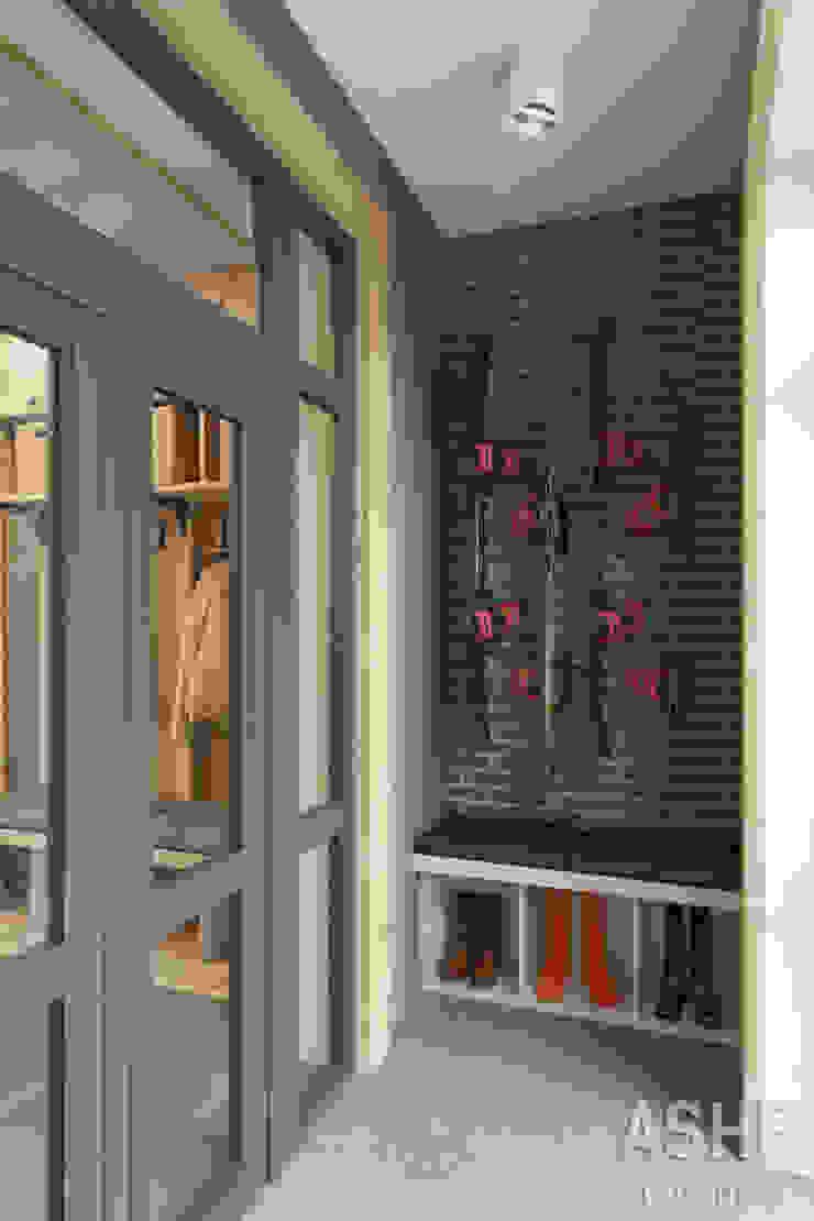 Лофт в Акбердино Коридор, прихожая и лестница в стиле лофт от Студия авторского дизайна ASHE Home Лофт