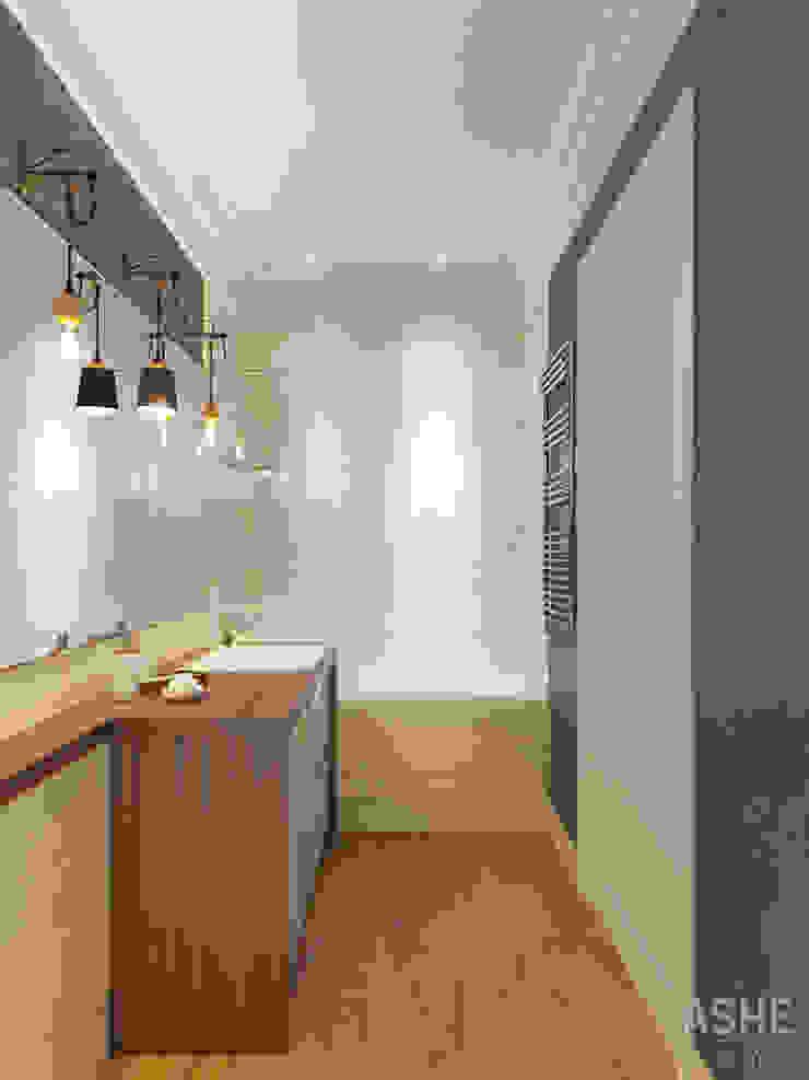 Квартира в ЖК Уфимский Кремль Ванная комната в эклектичном стиле от Студия авторского дизайна ASHE Home Эклектичный